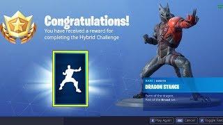"The New ""HYBRID"" EMOTE in Fortnite.. (Dragon Stance Emote Battlepass Challenges)"