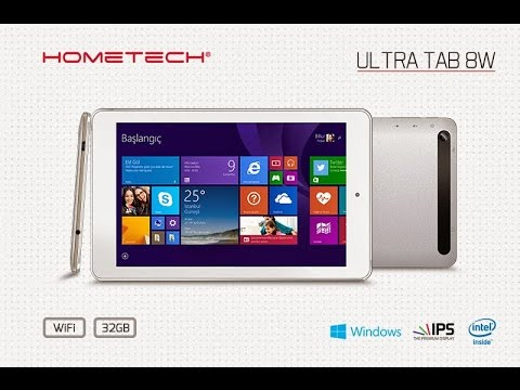 HOMETECH Ultra Tab 8W-8'' Intel Atom Z3735G 1.33 GHz 1 GB DDR3 32 GB Windows 8.1 Tablet PC  UNBOXING
