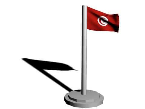 FLAG of Tunisia Drapeau de la Tunisie