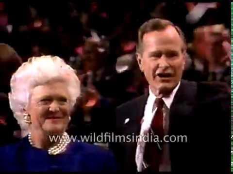 George H. W. Bush & Bill Clinton, Presidential election in America in 1992