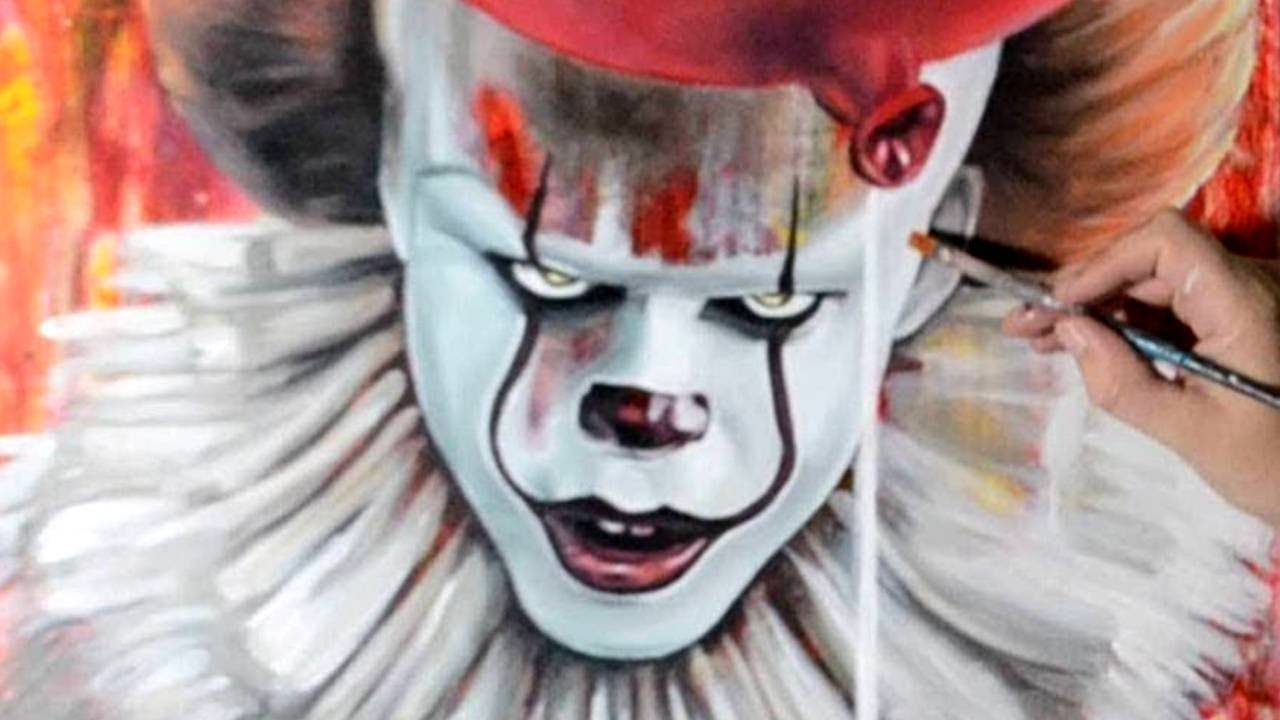 Painting Pennywise Clown with Acrylic Paints - Stephen ... | 1280 x 720 jpeg 78kB