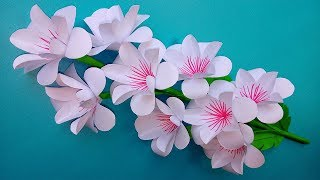 DIY: how to make very easy  paper flowers decoration at home