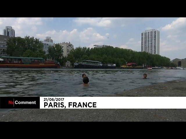 Escaping the heat in Paris