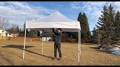 Instant Canopy 10X10 Setup - One person (and take-down)