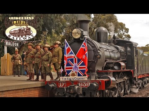 Australian Steam Trains - 'Answering The Call' Troop Train Special [PART 2]