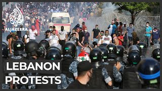 Tear gas, stone throwing as Beirut demonstration turns violent