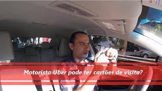 Motorista Uber pode ter cartões de visita?