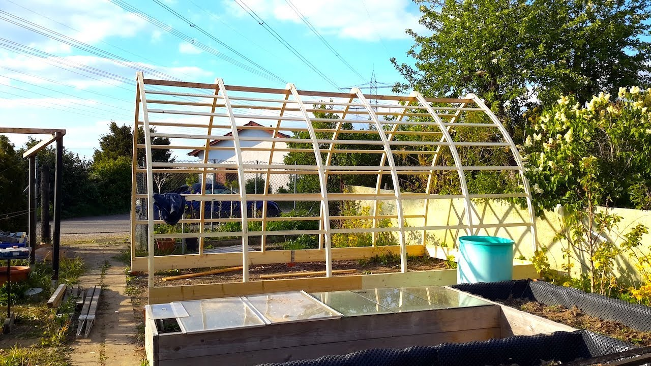Building A Gothic Arch Greenhouse Part 1