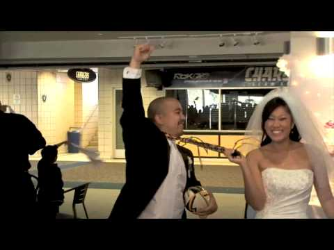 NFL Themed Reception Entrance and First Dance - WI...