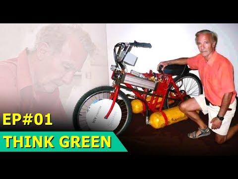 Worlds First Compressed Air Engine Bicycle | Armando Regusci | Think Green : Episode 01