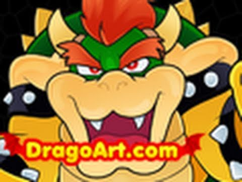 How To Draw Bowser Bowser From Mario Step By Step