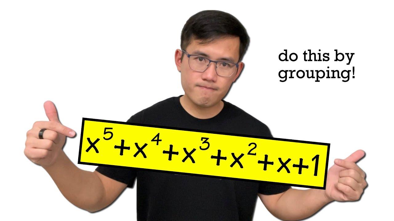 factoring a 6-term polynomial x^5+x^4+x^3+x^2+x+1