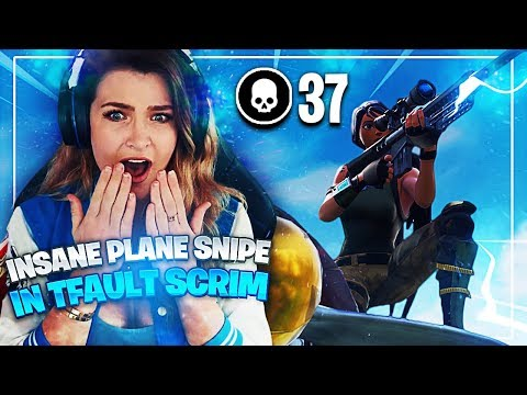 INSANE PLANE SNIPE IN TFAULT SCRIMS?! (37 KILLS) Fortnite: Battle Royale | KittyPlays