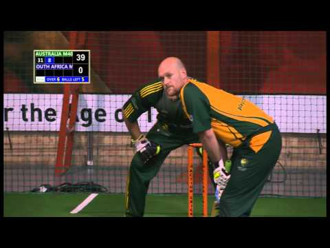 Indoor Cricket Masters World Series 2013 O40 Final Australia vs South Africa Part 1