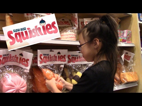 Emma's search for slow-rise squishies.  Showcase store at Scarborough Town Centre