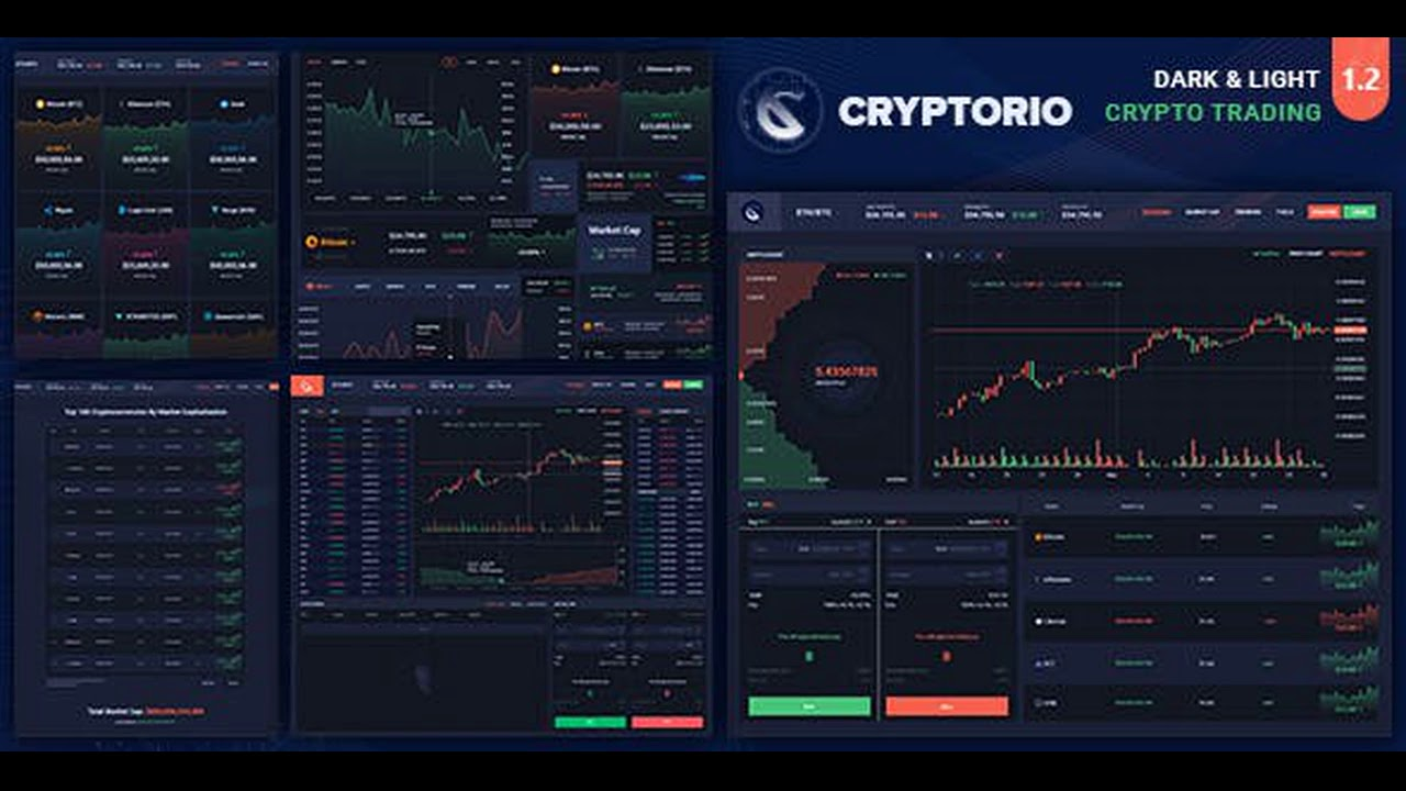 Cryptorio – Cryptocurrency Trading Dashboard HTML Template Cracked