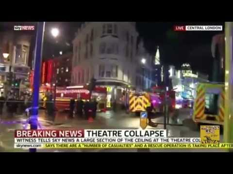 Apollo Theatre London COLLAPSE during Performance [TRAGEDY theater LONDON UK] 12/19/2013