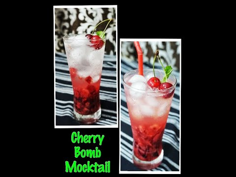 cherry-bomb-mocktail- -easy-to-make-drink-at-home