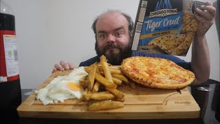 Egg chips and beans with pizza…
