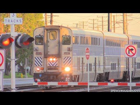 AMTRAK, BNSF & METROLINK TRAINS in SANTA FE SPRINGS, CA (12/13/14)