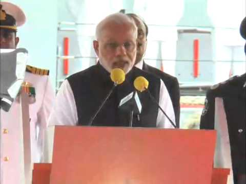 Modi commissions Indian-built offshore patrol vessel in Mauritius
