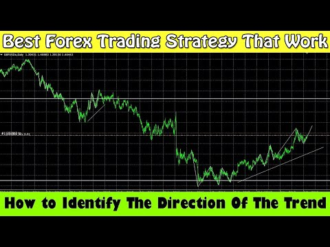 Best Forex Trading Strategy That Work In 2018 | How to Identify The Direction Of The Trend In Forex