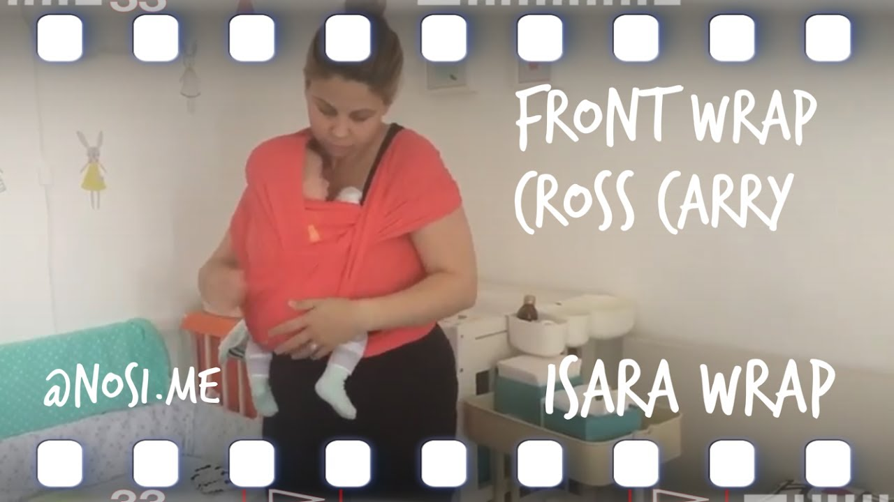 2a9e84c671b Babywearing  How to FWCC with a stretchy ISARA wrap - YouTube