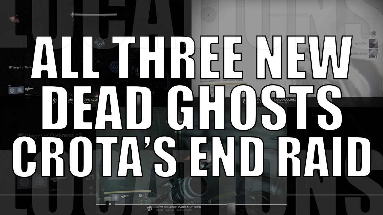 3 New Dead Ghost Locations in Crota\'s End Raid - Added in Patch 2.0 ...