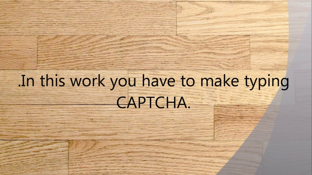 Offline typing work from home free registration | Online Captcha