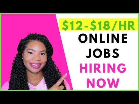 Online Jobs Hiring Now (PAID Training+STARTS Soon) | Online, Remote Work-At-Home Jobs September 2019