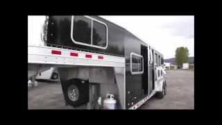 2015 Elite Colt Living Quarters 8'8 SW, Hydraulic Jack, Electric Awning 3 Horse Trailer