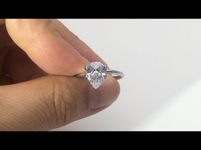 Cubic Zirconia White Color Pear Shape Checkerboard top with Culet cutting Gemstones