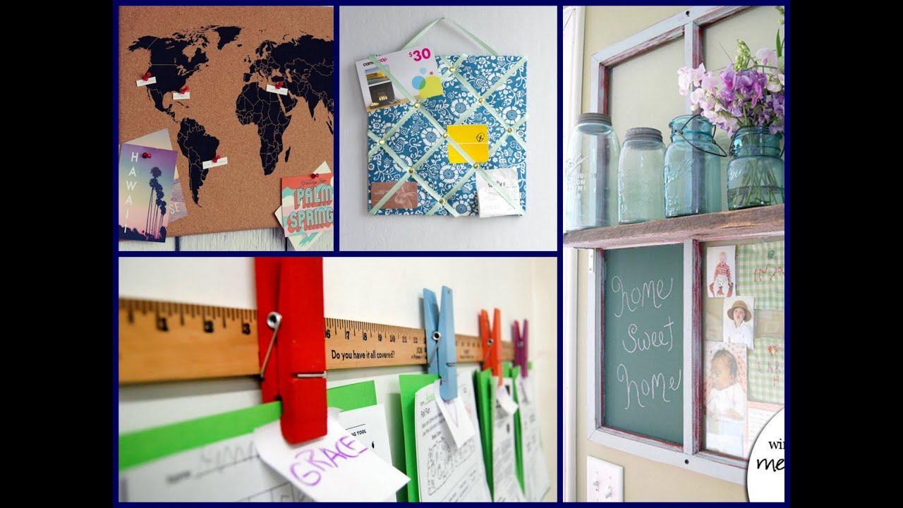 Memo Board Diy Home Decor Ideas Youtube