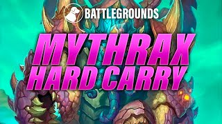 Mythrax Hard Carry | Dogdog Hearthstone Battlegrounds