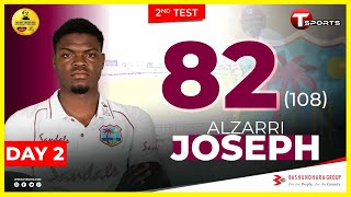 Alzarri Joseph's Innings Highlights | Day 2 | 2nd Test Match | West Indies Tour Of Bangladesh | 2021