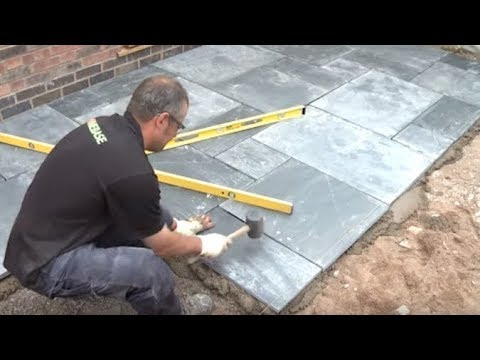 how to lay a patio expert guide to laying patio slabs garden ideas tips homebase