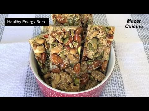 Healthy Energy Bars Recipe, Healthy Snack, Protein Bar Energy Nuts Bar,,Ramzan,Special, Recipes