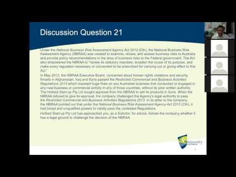 Administrative Law: Legislative Scope and Purpose
