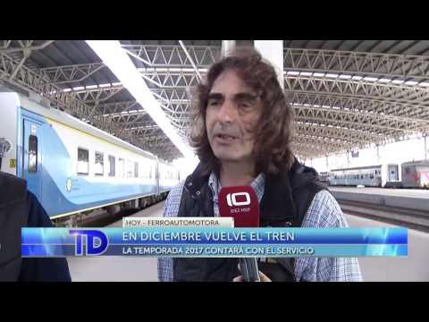 Canal Diez Mar del Plata   En Diciembre vuelve el tren a Mar del Plata