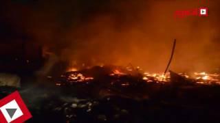 الحماية المدنية تسيطر على حريق أستوديو النحاس بالهرم (اتفرج)