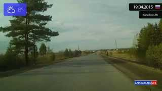 Driving through Beloyarskiy Rayon (Russia) from Kamyshevo to Zlatogorova 19.04.2015 Timelapse x4
