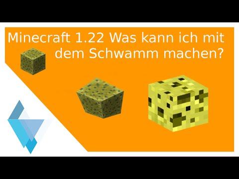 Minecraft 1.22 (Was Kann Ich Mit Dem Schwamm Machen?)