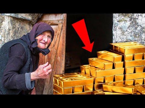 عثرت امرأة عجوز على كنز من الذهب في حديقة منزلها , أنظر ماذا فعلت به لن تصدق  - 21:51-2019 / 11 / 14