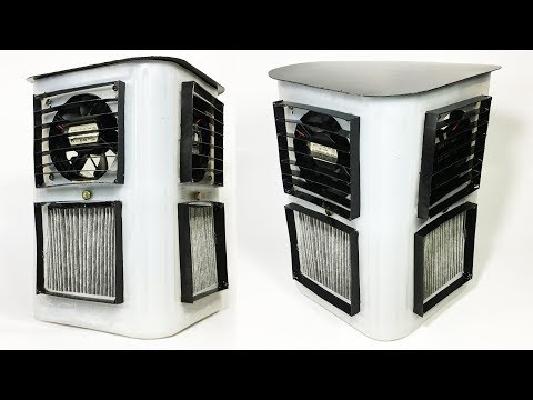 How to Make a Powerful Air Cooler using AC filter DIY Homemade (Water Cooler)