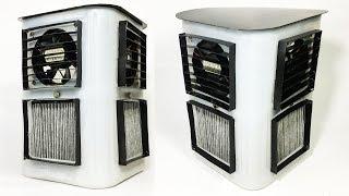 (Su Soğutucu)AC filtre DİY ev Yapımı kullanarak Güçlü bir Hava Soğutucu nasıl