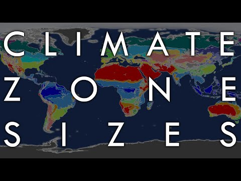 The Biggest And Smallest Climate Zones By Land Area