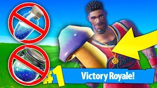 Using *MUSHROOM ONLY* To WIN FORTNITE! No Potions, No Bandages! (Fortnite Battle Royale)