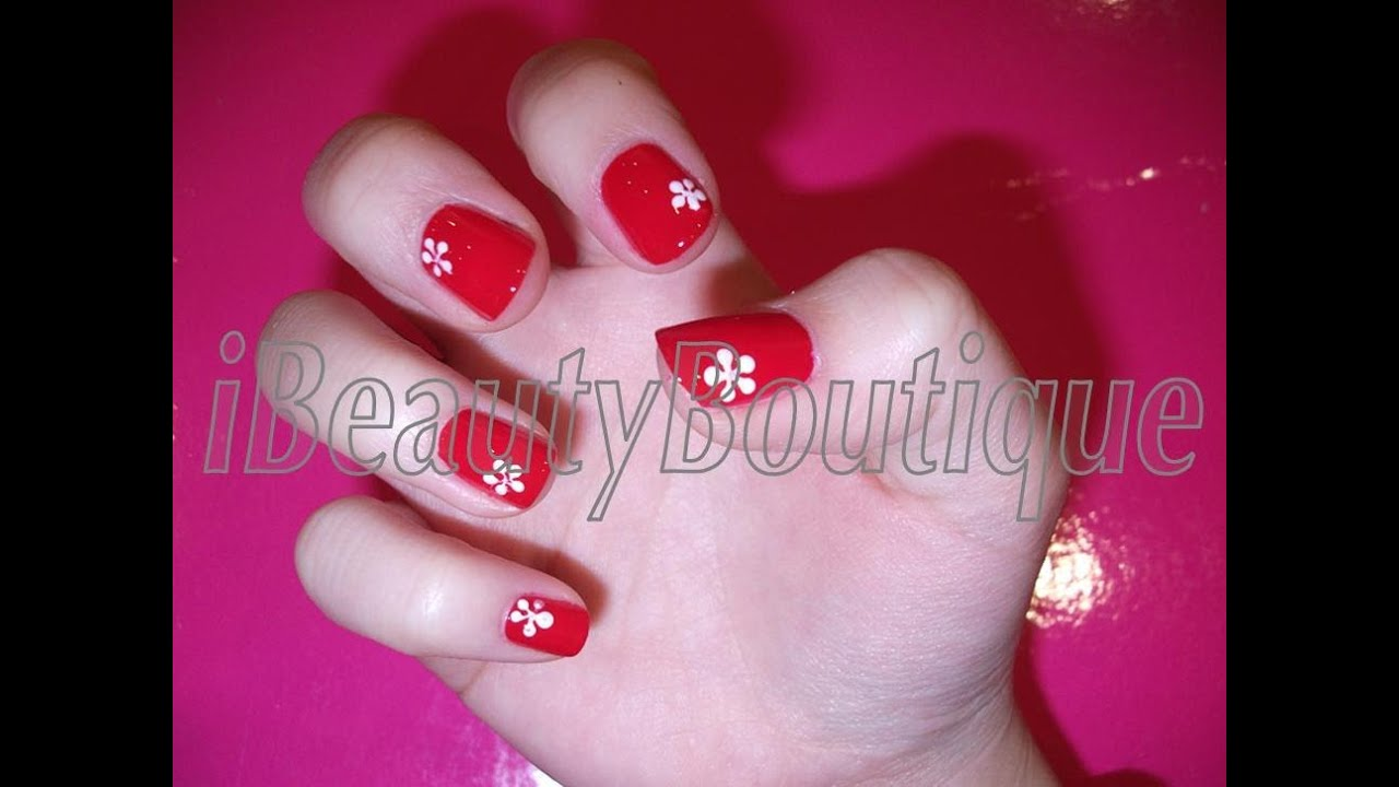 Quick and easy daisy flower - Nail Art | iBeautyBoutique - Quick And Easy Daisy Flower - Nail Art IBeautyBoutique - YouTube