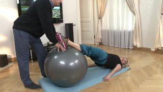 Упражнения с фитболом дома