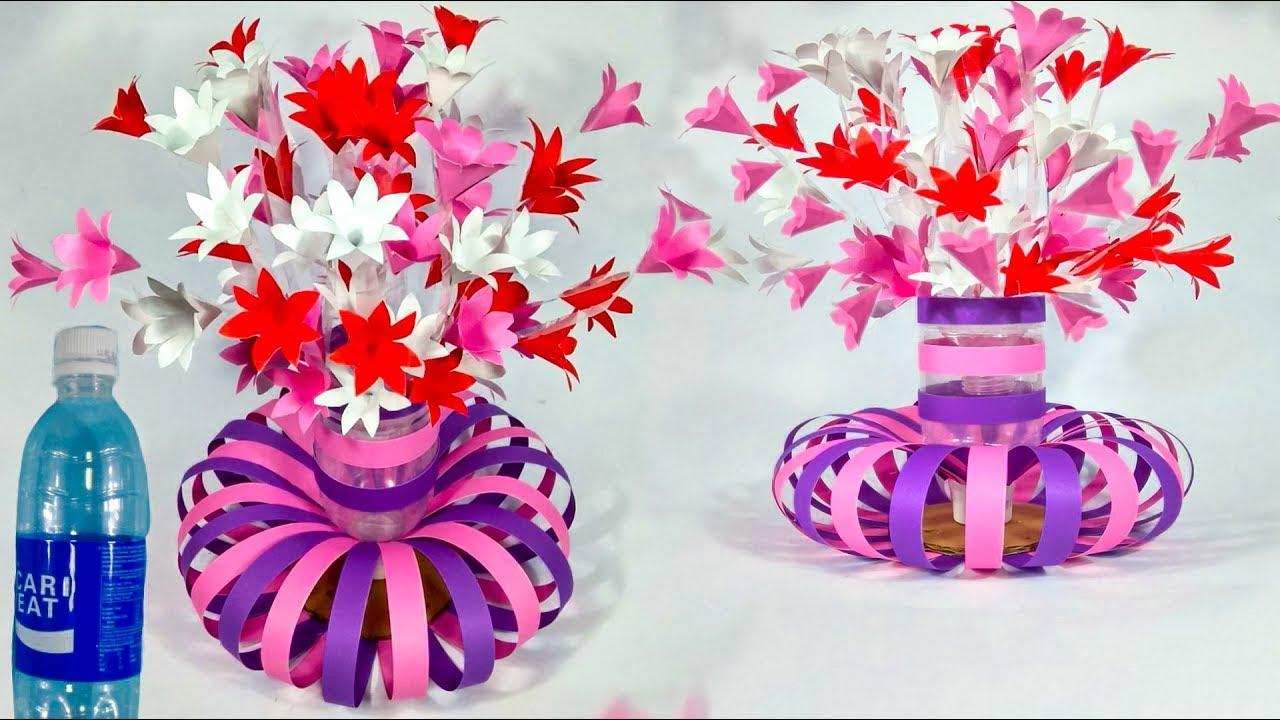 Cara Membuat Bunga Botol Bekas Kreatif How To Make Used Plastic Bottle Crafts Youtube